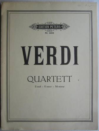 Image for Verdi: Quartet - E minor