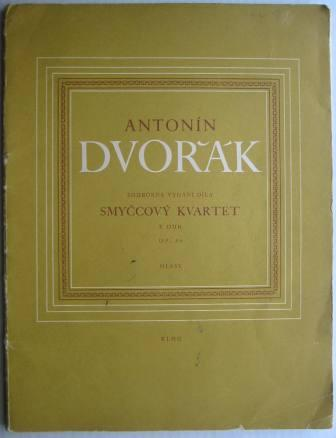 Image for Antonin Dvorak:  Smyccovy Kvartet - E Dur, Op. 80 (String Quartet in E major)