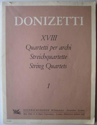 Image for Gaetano Donizetti, String Quartet 1, E-flat major