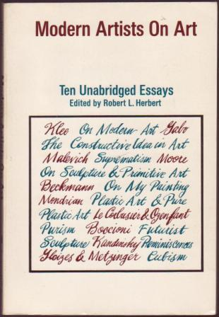 Image for Modern Artists on Art: Ten Unabridged Essays