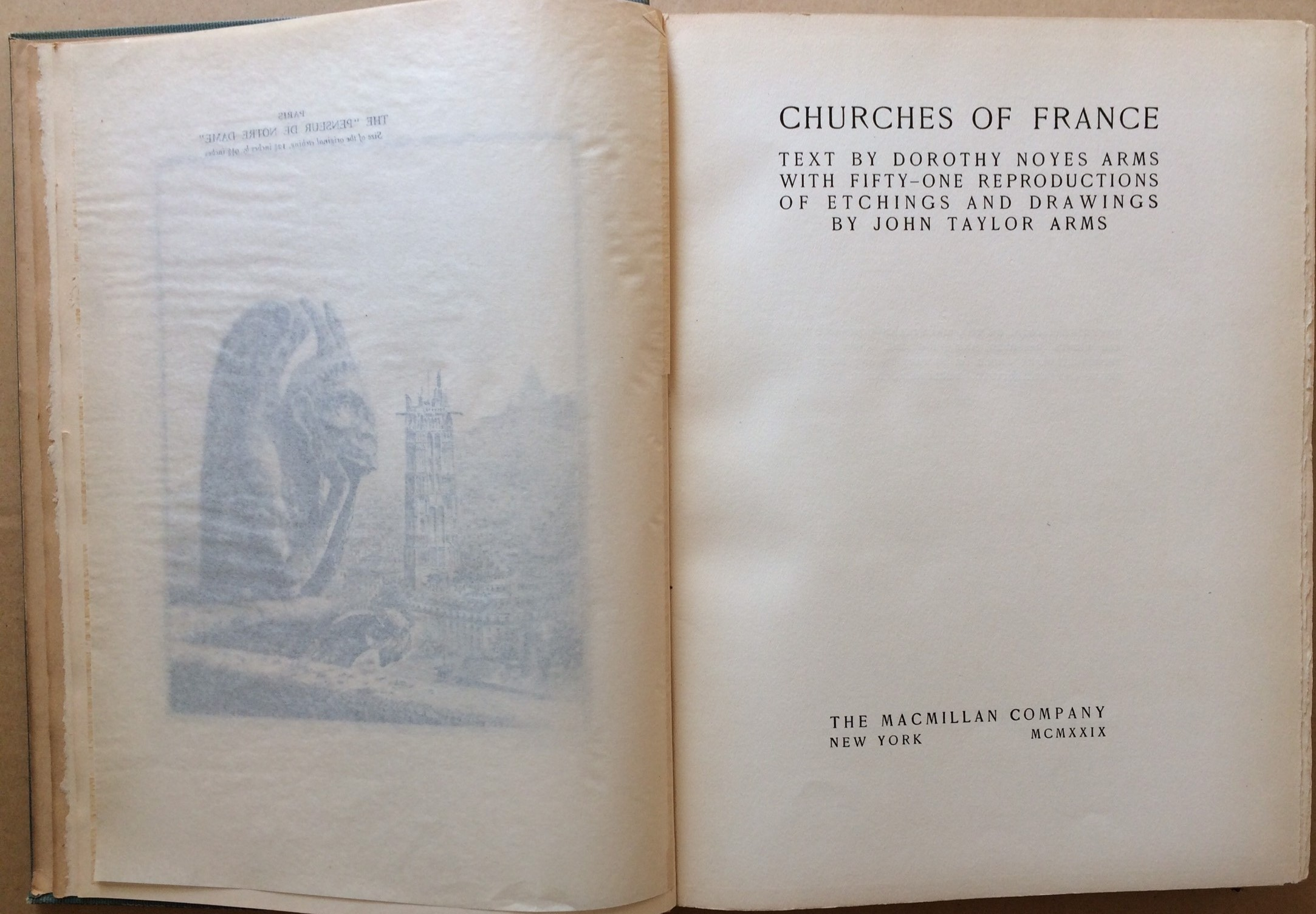 Image for Churches of France    (Fifty-One Reproductions of Etchings and Drawings)