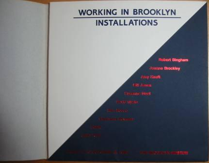 Image for Working in Brooklyn/Installations