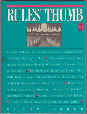 Image for Rules of Thumb - 2