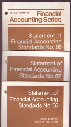 Image for Statement of Financial Accounting Standards No. 66; No. 67; No. 95