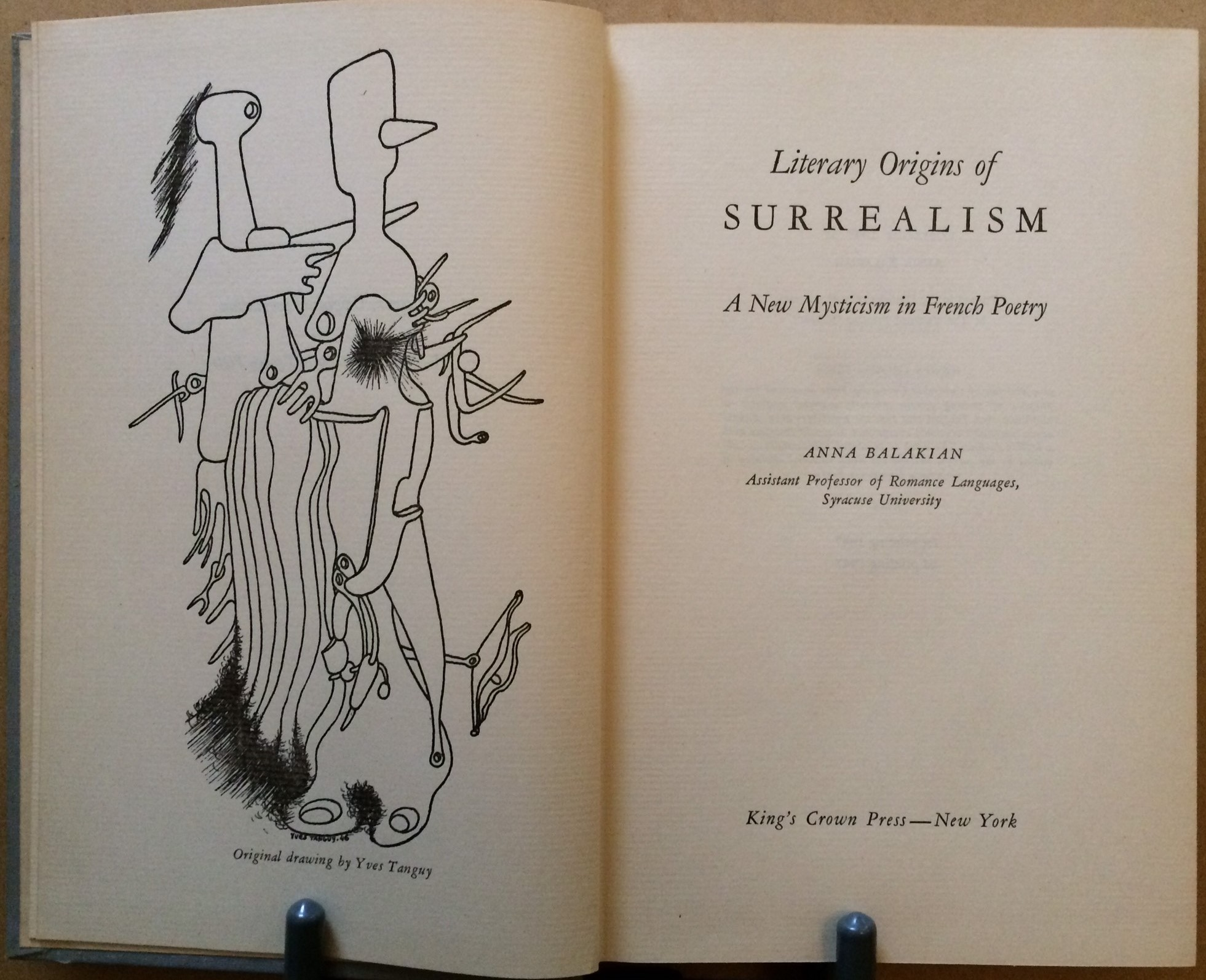 Image for Literary Origins of Surreailism: A New Mysticism in French Poetry
