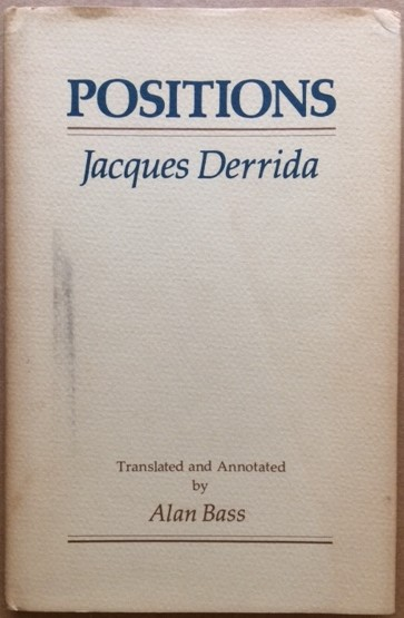 Image for Positions, Jacques Derrida